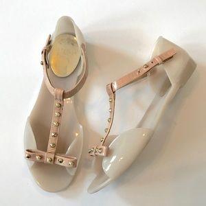 e77020cae9da Stuart Weitzman Shoes - Stuart Weitzman Nifty Studded Jelly Flat Sandal